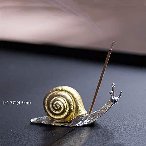 Sunormi Alloy Gold Leaf Shaped Incense Stick Holder Vintage Incense Burner for Yoga Studio Living Room - 11 Inch