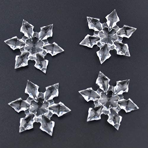 Coxeer 37PCS Christmas Ornament Set Icicle and Snowflake Ornament Hanging Decoration with Rope for DIY Party Hanging Decoration Xmas Tree Ornament