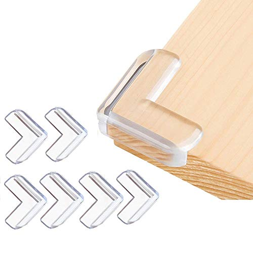 Corner Guards (12 Pack) Clear Corner Protectors | High Resistant Adhesive Gel | Best Baby Proof Corner Guards | Stop Child Head Injuries | Tables, Furniture & Sharp Corners Baby Proofing (L-Shaped)…