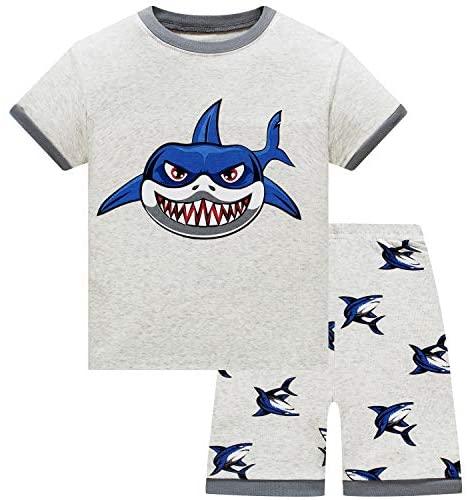 Boys Pajamas Baby Toddler Kids 100% Cotton Pjs Shark Dinosaur Pajamas for Boys