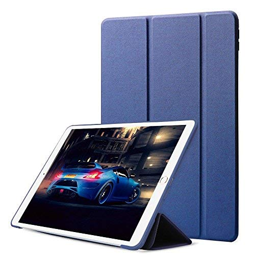 iPad Pro 10.5 Case DWOPAR PU Leather Lightweight Slim Smart Cover Shockproof Soft Back Trifold Stand with Magnet for Apple 10.5 Inch iPad - Navy Blue