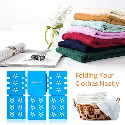 APRATA Clothes Folding Board T Shirts Clothes Folder Adult Size Multifunctional Organizer Plastic Laundry Folders Blue