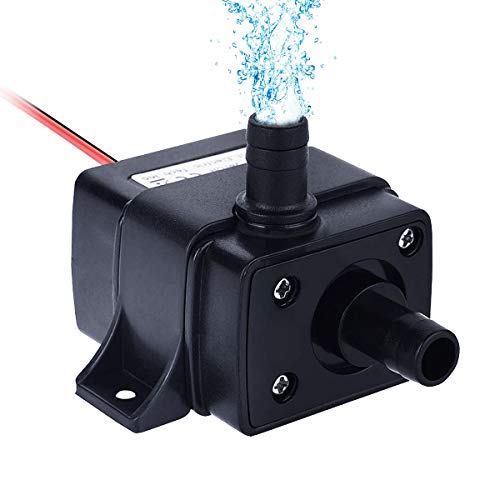 Allnice Submersible Water Pump(240L/H, 4.8W) 12v Electric Brushless Submersible Fountain Pump with 9.8ft High Lift Outdoor Water Pump with 1.4ft Power Cord for Aquarium, Pond, Fish Tank, Hydroponics
