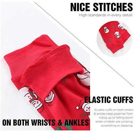 DAUGHTER QUEEN Christmas Pajamas for Boys & Girls, Baby 18M-12 Toddler Kids 100% Cotton Pjs Set Sleepwear