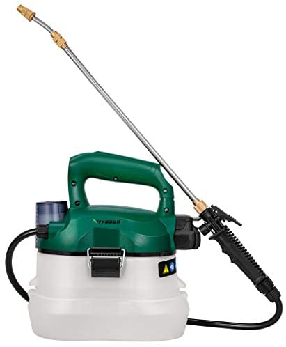 VIVOSUN 1 Gallon Battery Powered Handheld Sprayer Electric Pump Sprayer with Adjustable Nozzles for Garden Lawn