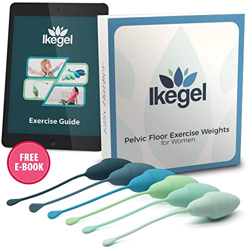 Ikegel Kegel Balls for Tightening with Workout eBook  aka  Ben Wa Balls for Women   Kegal Exercise Device for Women   Pelvic Floor Strengthening Device   Easy to Use Kegel Exercise Products for Women