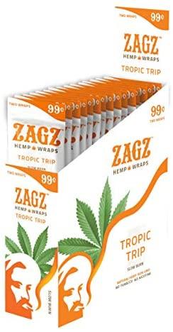 ZAGZ  Flavored Hemp Wraps, 50 Count, Tropic Trip