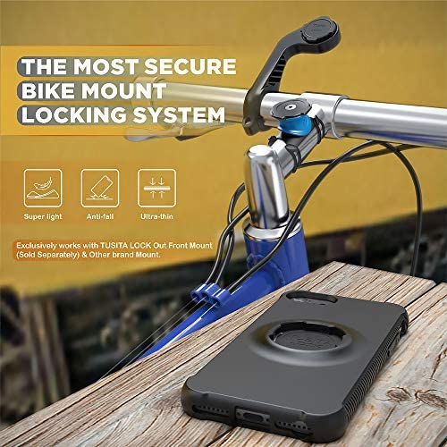 TUSITA Lock Case Designed Compatible with Apple iPhone 6 6S 7 8 SE 2020 - Bicycle Mount Protective Cover - Military Drop Tested Phone Accessories