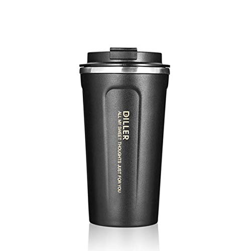 Tumbler Stainless Steel Vacuum Insulated Cup With Lid |16 oz Travel Coffee Mug |Go Tumbler for Home, Office, Outdoor, Traveling for Men, Women|Metal Thermal Tumbler |BPA Free |Matte Black