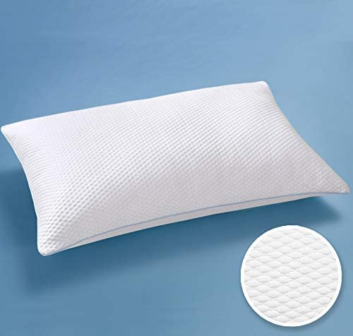 Queen Size 18x28.5 - Adjustable Shredded Memory Foam Pillow AIR-LOFT Cooling Structure, Best Pillow for Back Sleepers, Certipur-US Certified Cold Shredded Gel Memory Foam Pillow