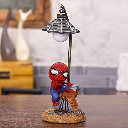 Spiderman Resin Ornament/Toys for Children/Home Decoration Birthday Gift/Super Hero Spiderman Mini Night Light (Spiderman-B)¡­