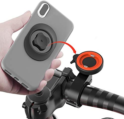 sincetop Universal Mobile Phone Holder Bicycle Aluminum Quick Mount Stand Rotatable Mountain Bike/Motorcycle Handlebar Bracket for Harley-Davidson MTB ATV Scooter GPS Navigation