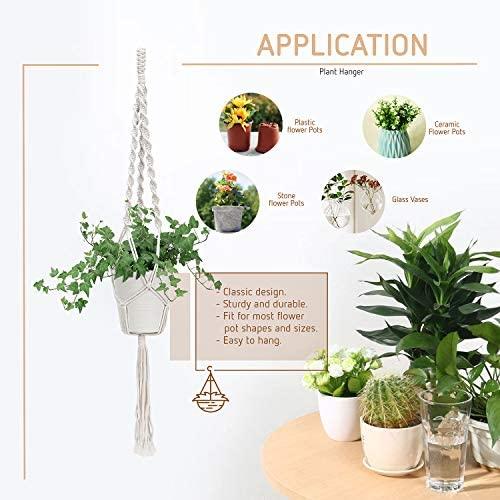 VIVOSUN 3 Pcs Macrame Plant Hanger Indoor Outdoor Hanging Planter Flower Pot Holder for Decoration