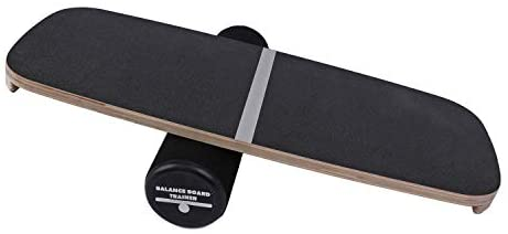 "Houseables Balance Board, Core Trainer, 29"" x 11"", 1 Pk, Black, Wood, Plastic, Roller Balancing Boards, Skateboard Training, for Abs, Exercise Equipment, Workout, Ankle Strengthening Therapy, Fitness"