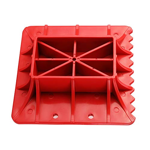 Seven Sparta Off-Road Base for Hi Lift Jack PP Pad to Alleviate Jack Hoisting Sinkage (Red)