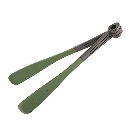Liflicon Silicone Food Tongs 13.2'',Heavy Duty & Heat Resistant Cooking Tongs for BBQ, Salads,Grilling,Serving and Fish Turning-Dark Olive Green