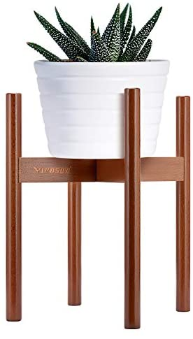 VIVOSUN Plant Stand Indoor Wood Plant Holder Flower Pot Holder Fits Pot Size of 8-10 inches (Pot & Plant Not Included)
