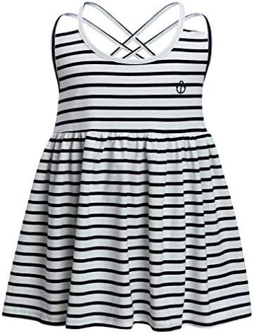 X-BBAO Kids Toddler Baby Girls Summer Sleeveless Striped Dress Casual Mini Dresses Sundress