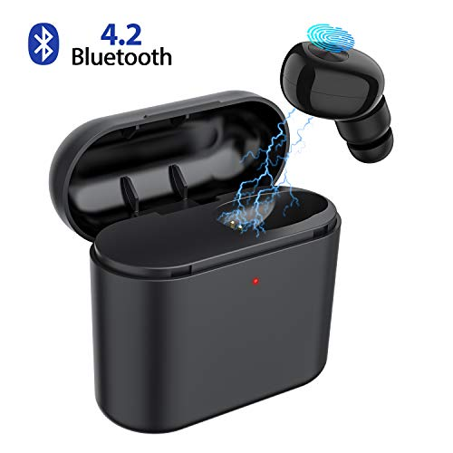 Bluetooth Earbud,ownta Wireless Headphones with Light Charging Case Headset Single Earbud Compatible Smartphone/iPhone 6 7 8 Plus X/iPad Samsung Android S17