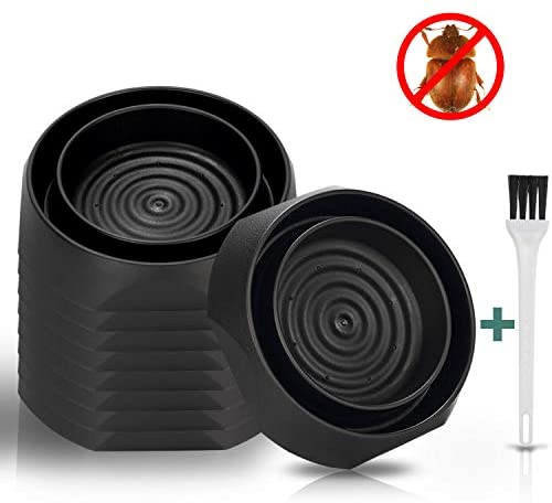 Bed Bug Interceptors - 8 Pack | No Chemicals or Pesticides | Eco Friendly and Baby Safe Insect Contro | Monitor, Detector, and Trap for Bed Bugs (Black)