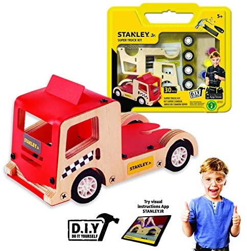 Stanley Jr.. - Super Truck Kit, Medium Wood Building Kits Ages 5+ (OK029-Sy)