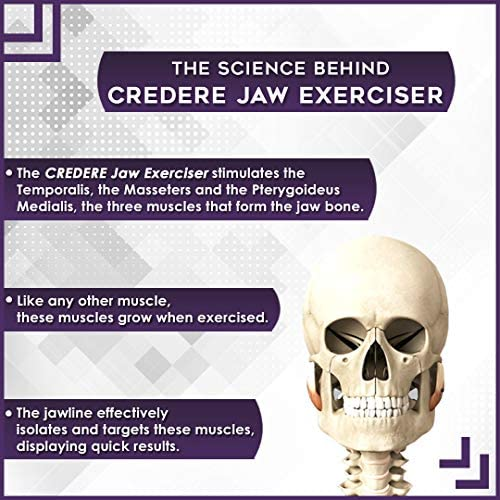 CREDERE Jaw Exerciser Set - Jawline Exerciser- Jaw,Face and Neck Exerciser - Two Resistance Levels 20 lbs and 40 lbs - Double Chin Eliminator - Get a chiseled Jawline with Jawline Exerciser