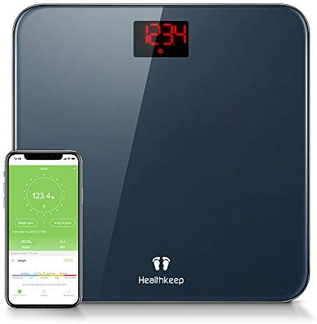 Weight Scale Healthkeep Bathroom Scale Smart Bluetooth BMI Digital Scales for Body Weight Body Composition Analyzer