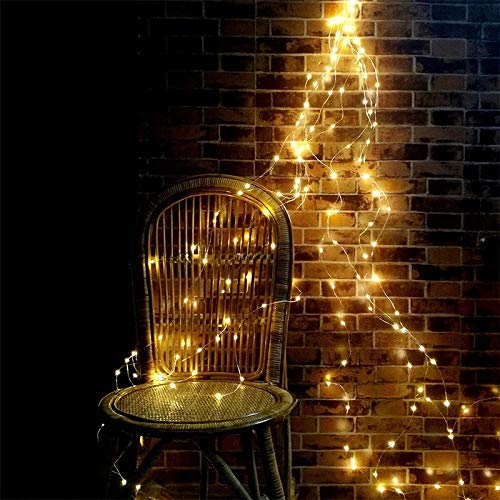 The Corner Of Joy US Plug in Waterproof String Lights for Outdoor & Indoor 8 Modes 200 LED String Fairy Lights, 10 Strand Cascading Waterfall for Holiday Party Decorations (Warm White)