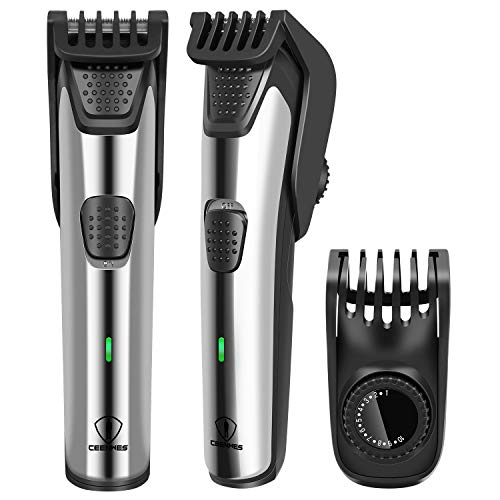 Ceenwes Adjustable Beard Trimmer for Men Waterproof Cordless Hair Clippers with 19 Built-in Precise Lengths Hair Cutting Kit Fast Charge &Long-Lasting Use for Men Boyfriend dad family