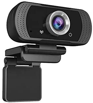 Webcamwith Microphone, QY 1080P HD 30fps, Plug and Play with Auto Light Correction for Skype Zoom, Discord