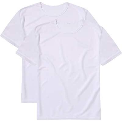 Souactimuy Mens Sports Quick Dry T-Shirt 2pack Crewneck Short Sleeve Regular Version