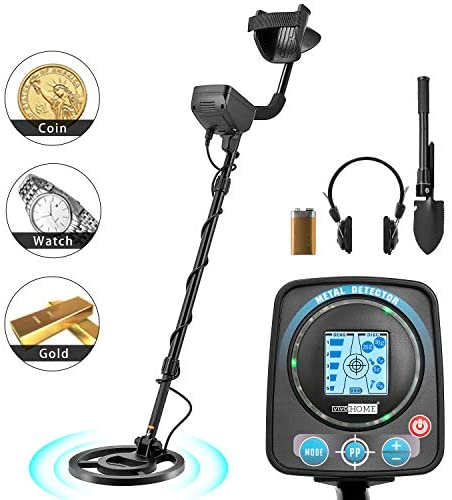 VIVOHOME Metal Detector Waterproof with Headphone for Adults Kids, Adjustable Length 41-52 inch, High Accuracy with a HD LCD Screen, Varied Smart Modes