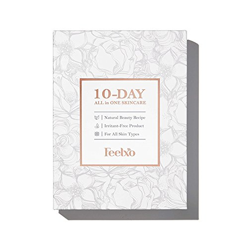 Facial Mask Sheets [FEELXO] 10 DAY ALL in ONE Skincare Program, 10 Sheets Per Set, Moisturizing, Vital-up, Anti-aging with Highly Concentrated Serum
