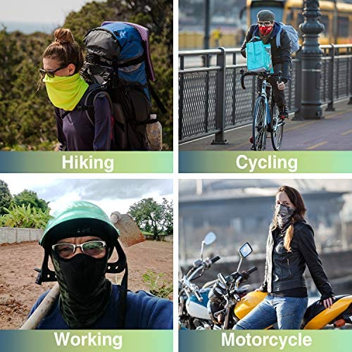 Summer Neck Gaiter Face Scarf - Multifunctional Women/Men Face Bandana UV Dust Proof for Cycling Hiking Fishing