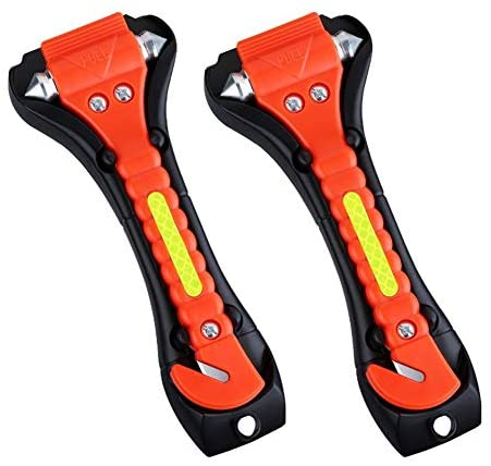 New lightweight 2 pack sold emergency escape tool with life-saving hammer and seat belt cutter first-aid survival tool