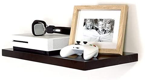 Castle Timbers AV Floating Shelf for Streaming Device, Gaming Console or Cable Box (17.5 x 12 Inches) Ideal for Minimalist Interior Design (Mahogany)