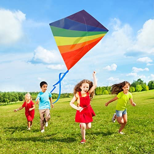 AGREATLIFE Diamond Kite Easy Flyer for Boy and Girls - Easy to Fly and Soars High, A Great Way to Enjoy and Spend Time with Friends and Family.