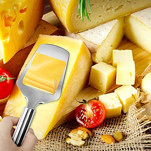 Stainless Steel Wire Cheese Slicer with Cheese Plane Tool for Semi Soft, Semi-Hard Cheeses Kitchen Cooking Tool, Cheese Cutter with Wire, 2 PCS