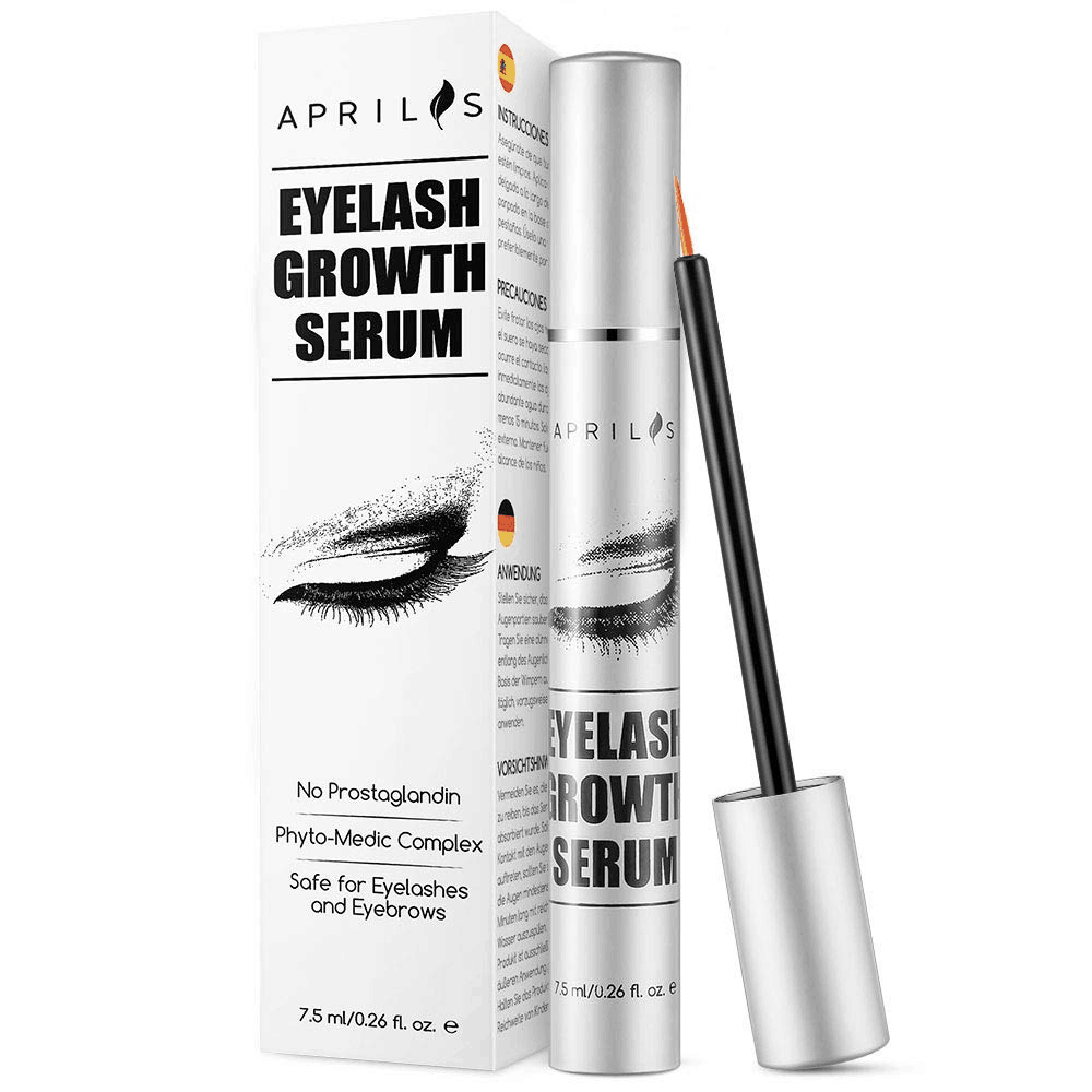 Natural Lash Growth Serum, 7.5ml Eyelash Growth Enhancer & Brow Serum for Long, Luscious Lashes and Eyebrows