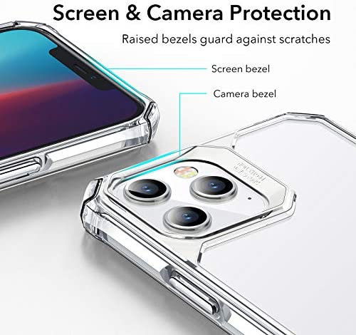 """$10 commission for iPhone 12 Pro Max Case [Shock-Absorbing] [Scratch-Resistant] [Military Grade Protection] Hard Polycarbonate + Flexible Polymer Frame for iPhone 2020, 6.7"""", Clear"""