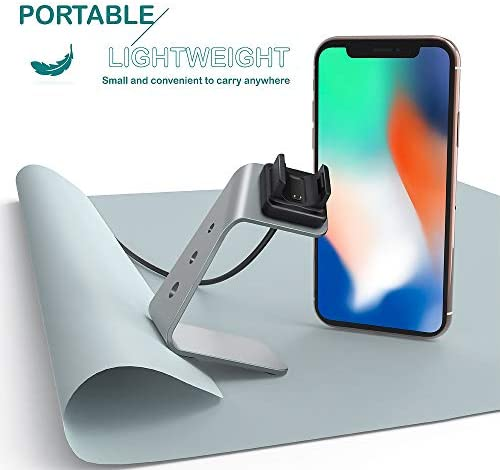 TUSITA Charger Stand Compatible with Fitbit Charge 3 SE / 4 SE - USB Aluminum Charging Dock 5ft 150cm - Fitness Tracker Accessories