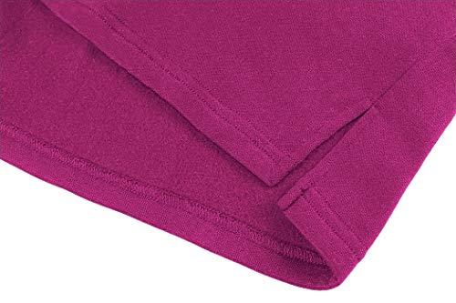 MIMIGOGO Women's Long Hoodie Dress Casual Striped Zipper Fleece Pullover Sweatshirt Dress with Pocket