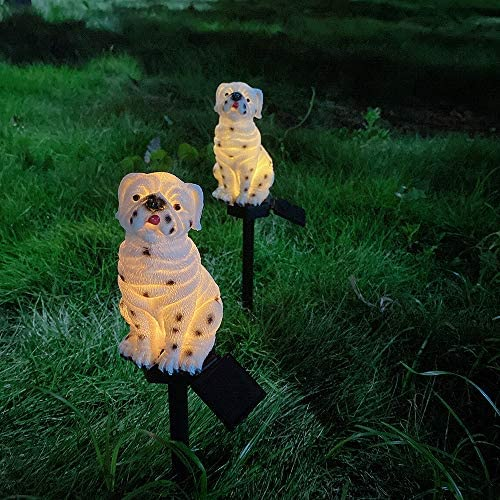 Garden Lights - Solar Night Lights Dog Shape Solar-Powered Lawn Lamp - Waterproof, Energy Saving (Dog)