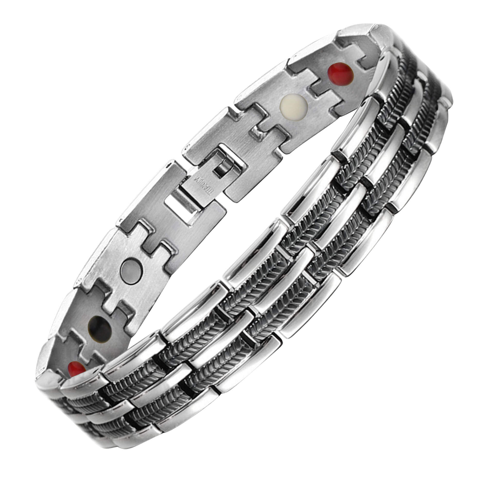 Titanium Bracelet for Men with Magnetic Therapy for Arthritis Pain Relief