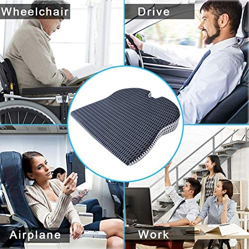 Car Wedge Seat Cushion for Car Driver Seat Office Chair Wheelchairs Coccyx Support Tailbone Pain Relief Memory Foam Seat Cushion