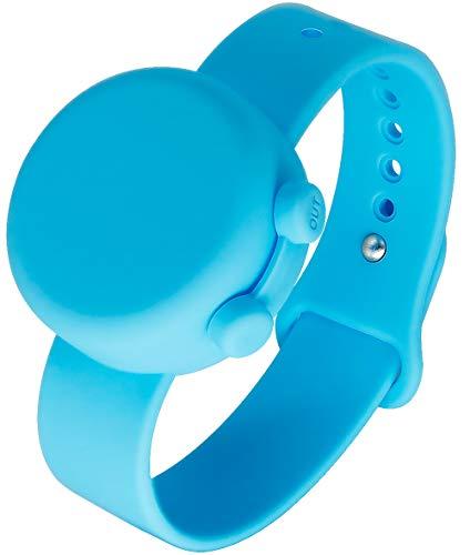 SENSIVO Wristband Hand Sanitizer Dispenser Empty Hand Sanitizer Bracelet Pocket Hand Sanitizer Spray Portable Refillable Hand Sanitizer Keychain Holder Case Blue