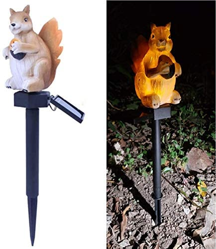 LED Garden Lights - Solar Night Lights Squirrel Shape Solar-Powered Lawn Lamp - Waterproof, Energy Saving (Squirrel)