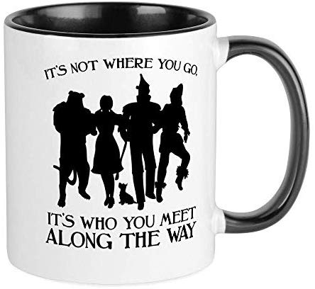 Wizard Of Oz Who You Meet RINGER Mug Ceramic 11oz Coffee/Tea Cup Gift Stocking Stuffer