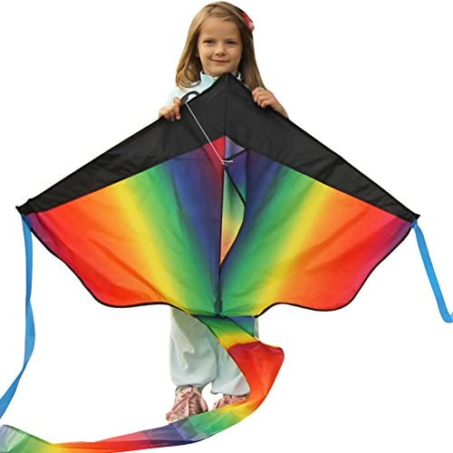 AGREATLIFE Large Rainbow Kite for Kids a Kite Easy to Fly for Outdoor Games and Activities | Easy to Fly and Soars High, A Great Way to Enjoy and Spend Time with Friends and Family