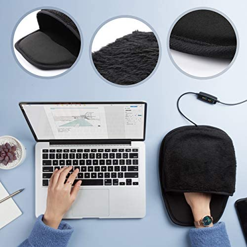 The Greatest Christmas Gift of 2020 is Here! USB Heated Computer Mouse Pad with Controller - 3 Temperatures and 3 Time Limits